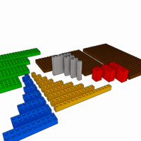 3d model lego brick pack