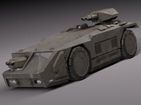 car armored carrier 3d max