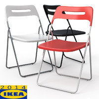 3dsmax nisse folding dining chair