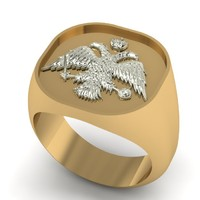 Greek Ring Eagle Orthodox