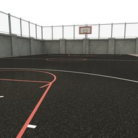 outdoor basketball court 3d model