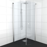 3d model shower architech