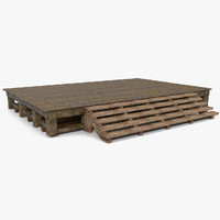 maya platform wood