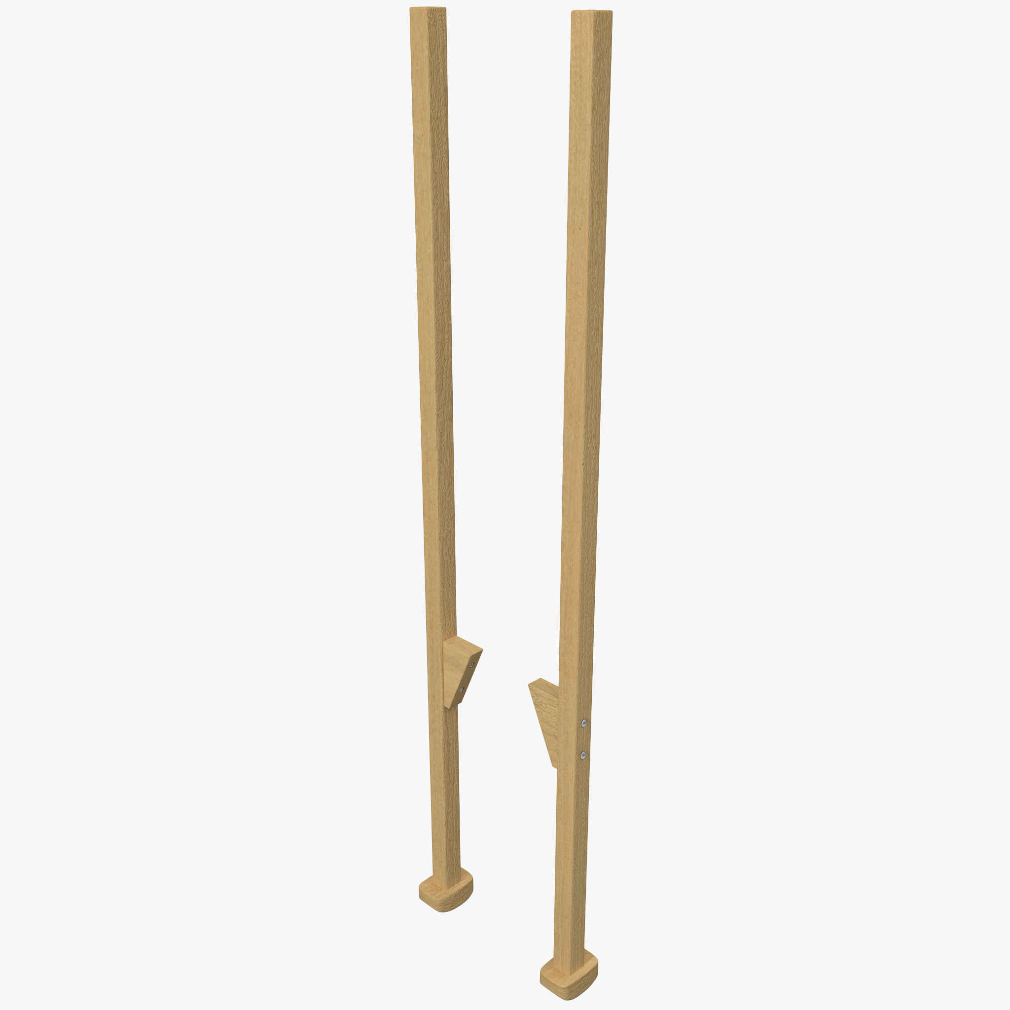 wooden walking stilts 3d model