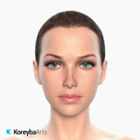 realistic female head max