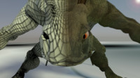 lizard creature obj