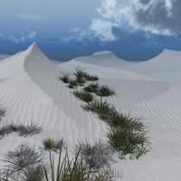 3d sand dunes white gold