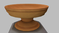 3d fruit bowl wooden model