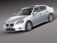 2014 lexus gs 3d model