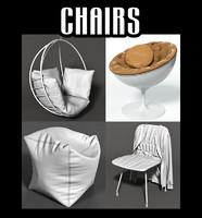 3d model chairs interior