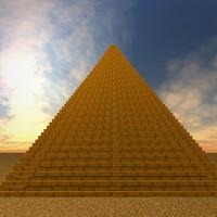 pyramid desert sand 3d model