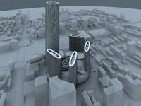 3d max city scape