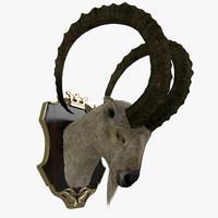 3d goat head