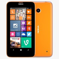 nokia lumia 630 bright 3d model