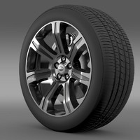 3d max rangerover autobiography black wheel