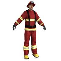 fireman ready 3d model