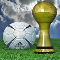 3d pack cup soccer ball model