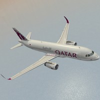 sharkleted a320neo qatar airways 3d model