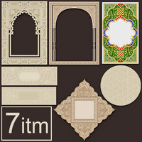 3d 3ds arabesque set 1 ceiling