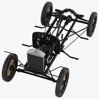 3d t chassis engine modeled