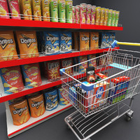 3ds max grocery elements