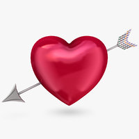 heart arrow 3d model