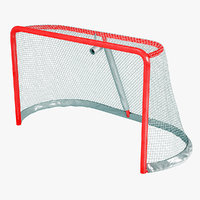 3d model ice hockey goal