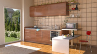 3d photorealistic kitchen oven