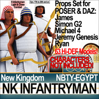 Props Set Poser Daz for  Ancient Egypt Infantryman NK