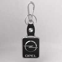 3ds max realistic opel car keychain