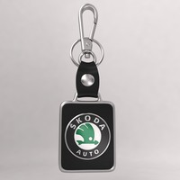realistic skoda car key 3d model