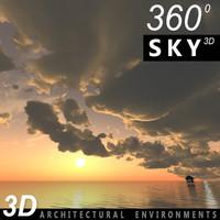 Sky 3D Sunset 033