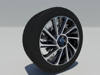 bmw i8 2015 rim tire 3d model
