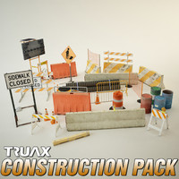 3d city construction prop pack model