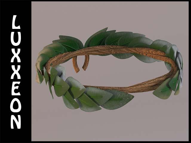 3d laurel wreath for Laurel leaf crown template