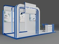 booth exhibition 3d 3ds