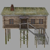 3d max stilts house