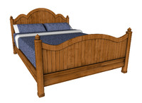 traditional bed 3d model