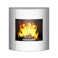 3d model wall fireplace