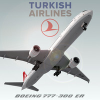 boeing 777-300 er turkish 3d max