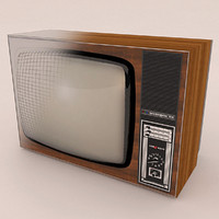 3d model old tv elektron 714