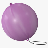 punching balloon 3d model