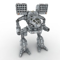 3d robot warrior mech model