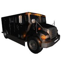 3d model truck bank