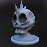 3d model skull punk