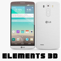 LG G3 White Element 3D