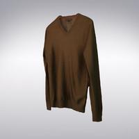 s v-neck cashmere sweater 3d max