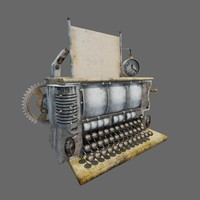 old typewriter 3d obj