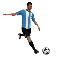 3d model messi animations