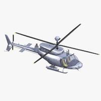 3d bell oh-58 d kiowa model